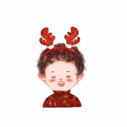 圣诞情侣头像1