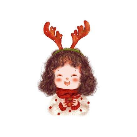 圣诞情侣头像2