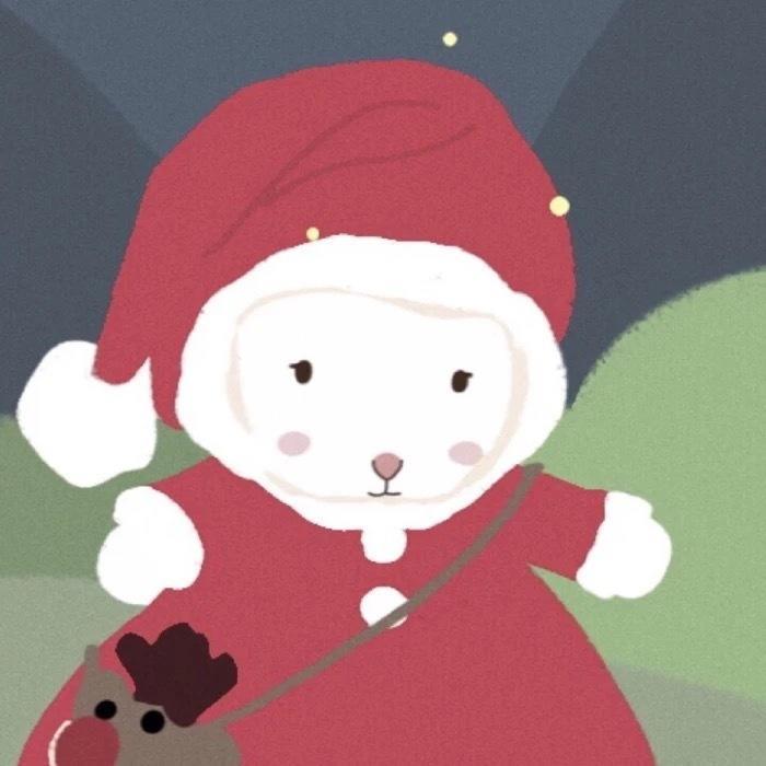 圣诞情侣头像21
