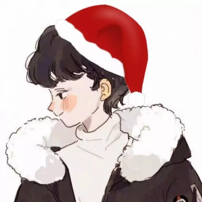 圣诞情侣头像95