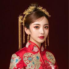 结婚头饰及发型图片 中式新娘的装扮手册