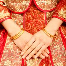 持久不掉色满天星新娘结婚单扣推拉手镯