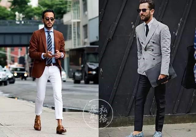 休闲西装外套与裤子搭配