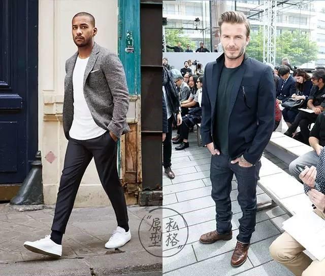 休闲西装外套加牛仔裤适合穿的鞋子