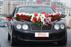 婚车车头花怎么装饰