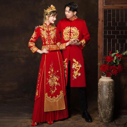 囍嫁系列•倾城牡丹修身显瘦秀禾服