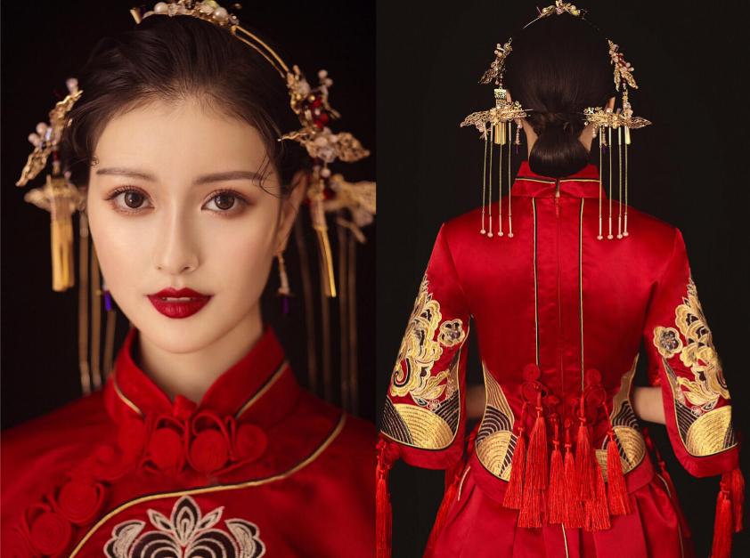复古中式新娘发型图片1