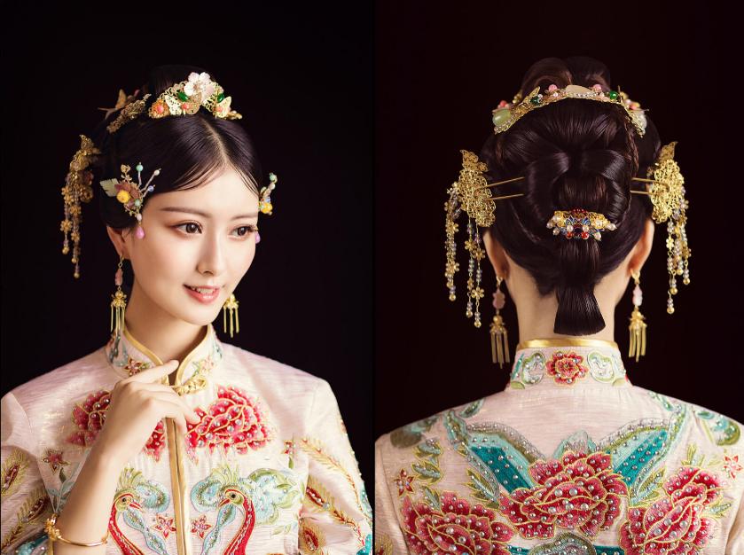 复古中式新娘发型图片3