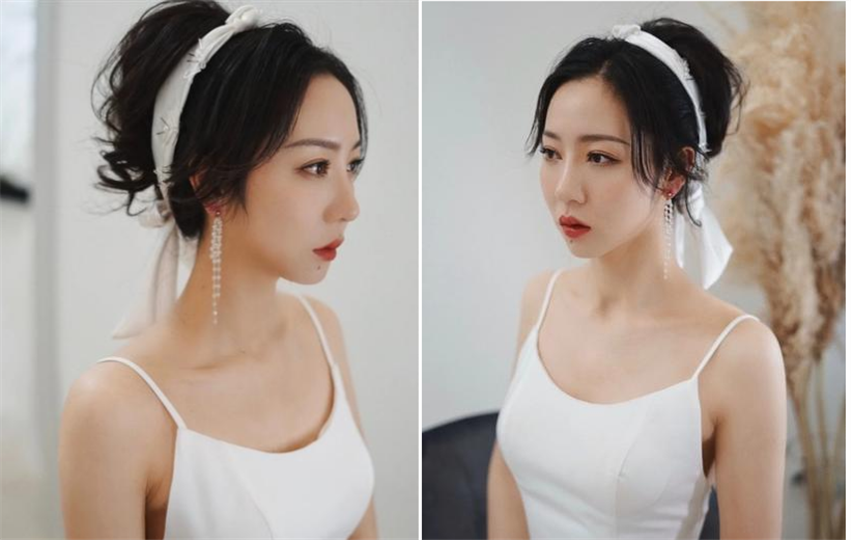 复古敬酒服新娘发型3