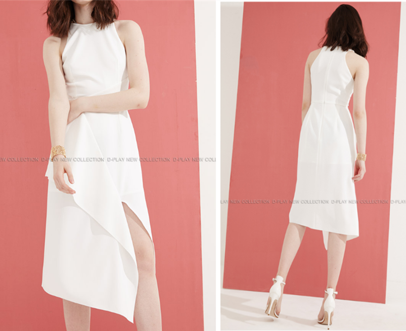年会适合的白色小礼服
