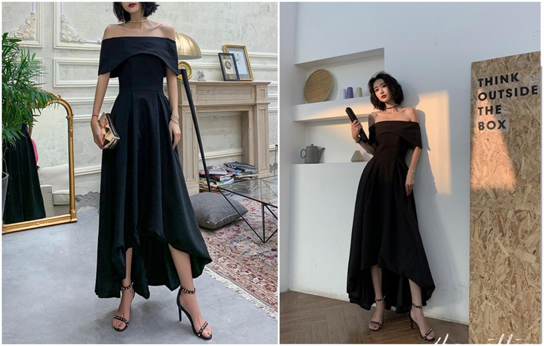 适合年会穿的小黑裙