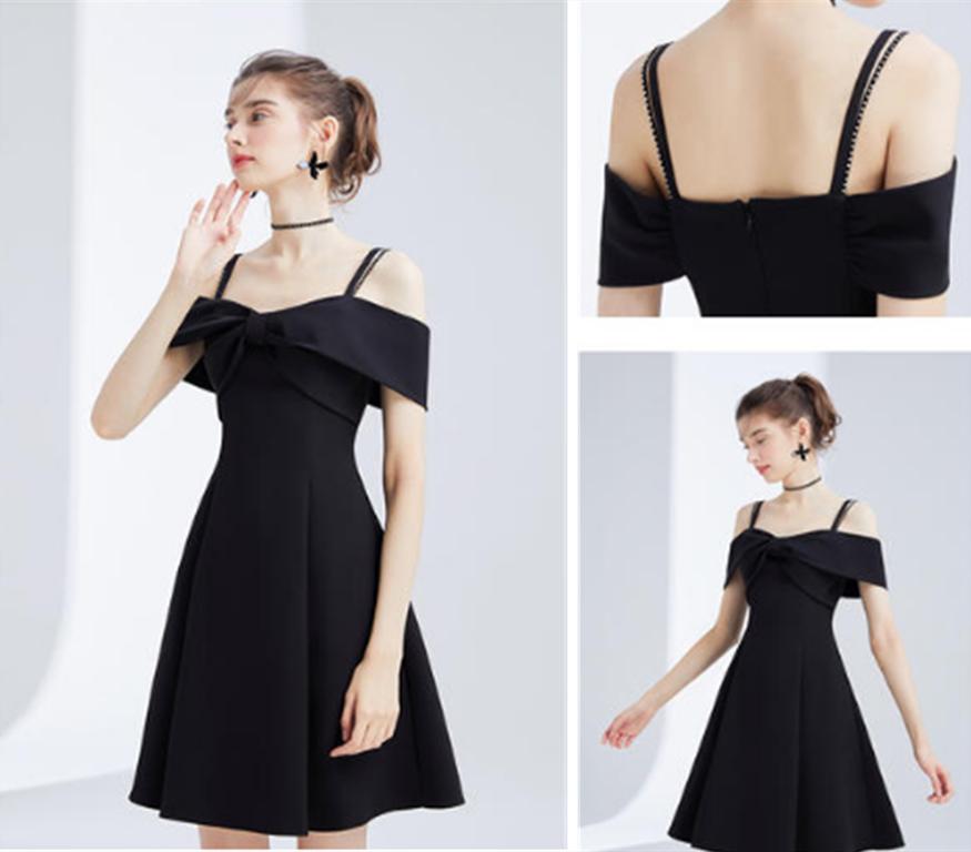 小个子女生小黑裙