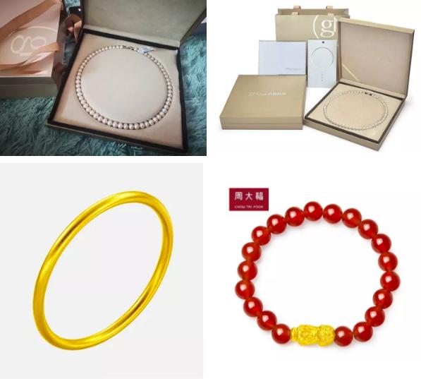 珍珠、黄金首饰