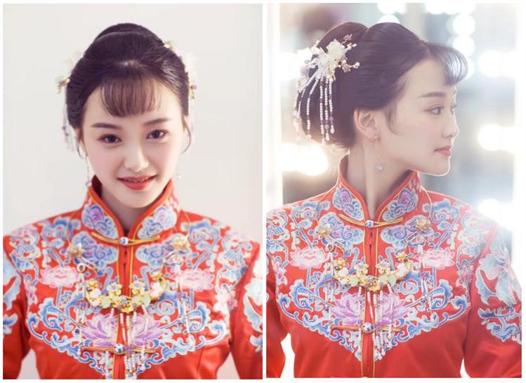 中式礼服简单大方高盘发发型4
