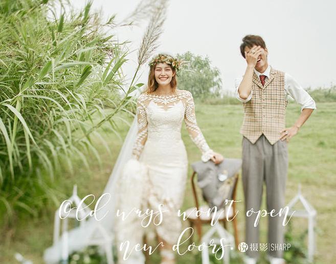 户外清新韩风婚纱照