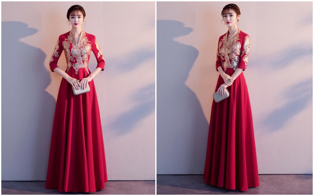 中式婚宴晚礼服