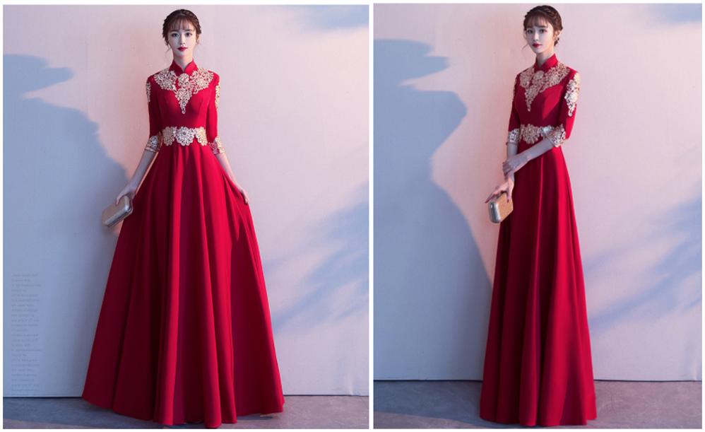 中式婚宴晚礼服2