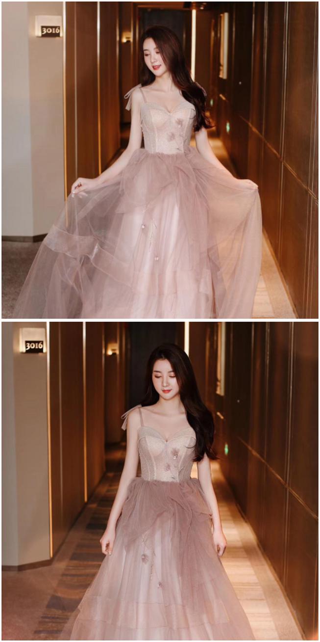 裸色婚宴晚礼服