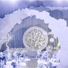 新中式婚礼场景效果图 中式婚礼现场布置图片