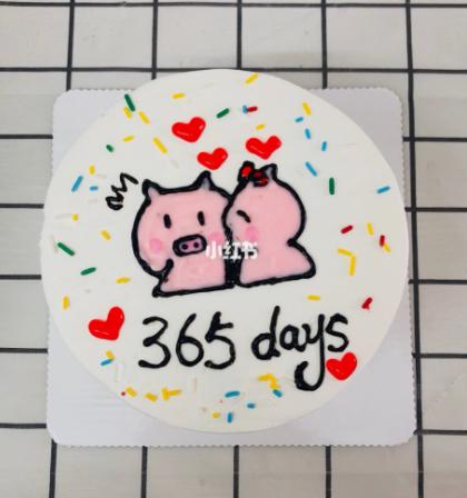卡通纪念日蛋糕