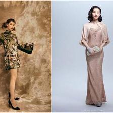改良旗袍裙图片 优雅减龄不挑身材