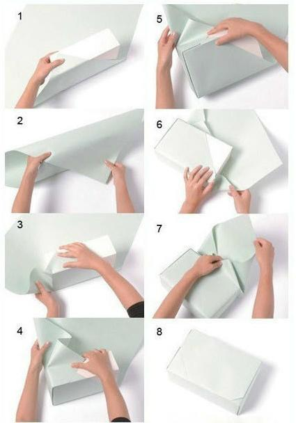 四方形礼物包装方法