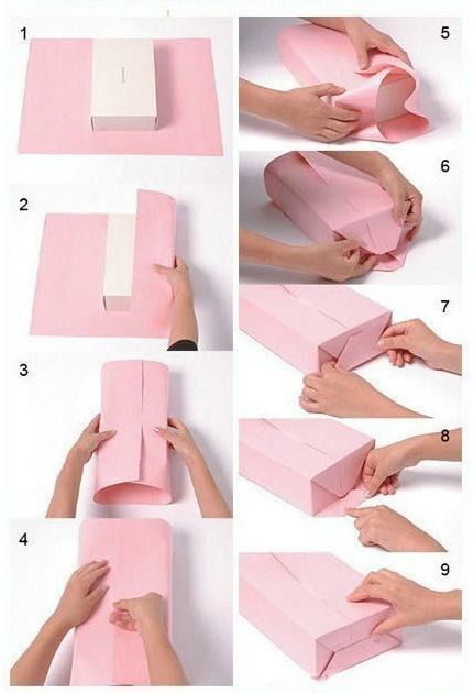厚长方形礼物包装方法
