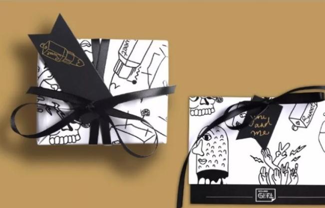 涂鸦动漫风包装纸