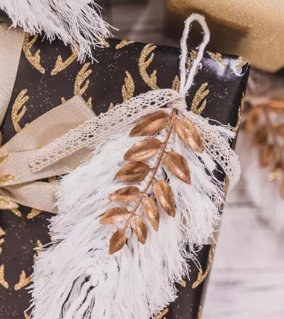 羽毛装饰礼物