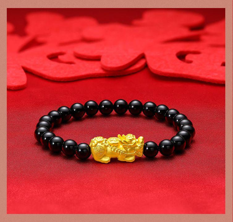 周大生黄金貔貅手链