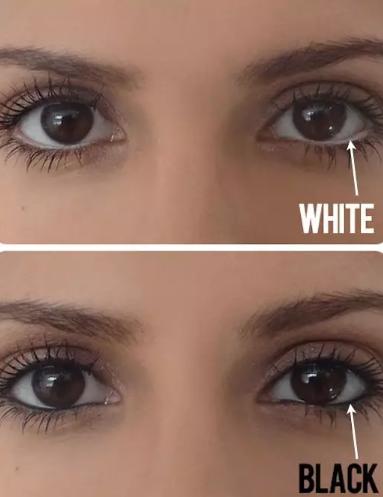 白色眼线放大眼睛