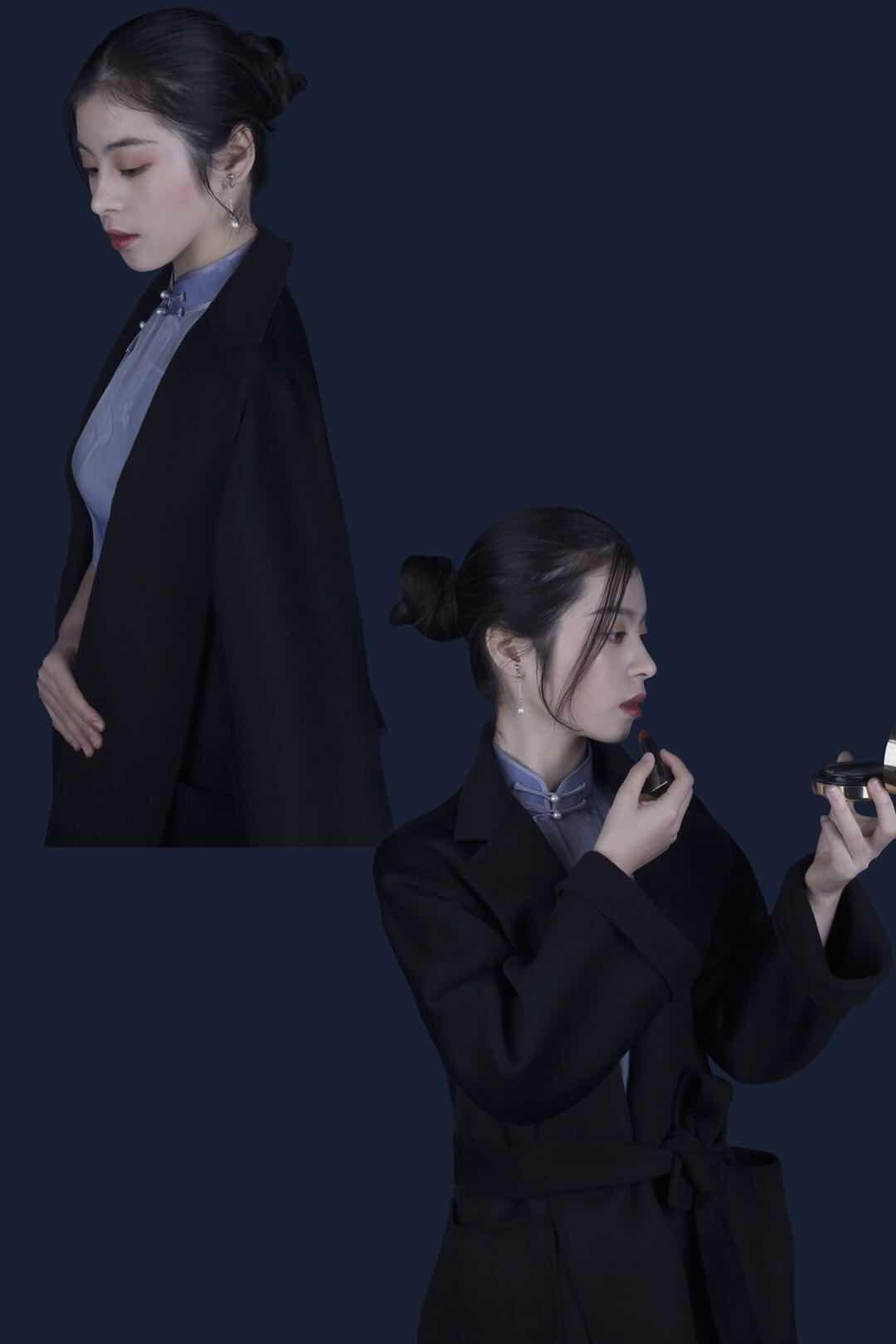 旗袍搭配大衣