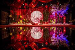 中国风婚礼布置效果图 最新中式婚礼现场布置