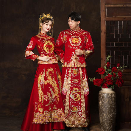 囍嫁系列?凤吟凰舞中式秀禾服