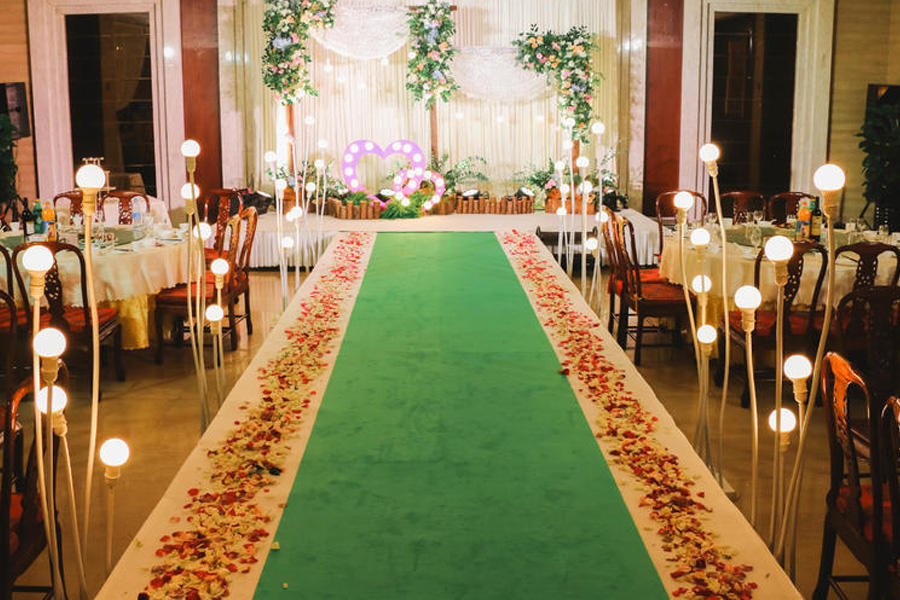 婚礼主舞台入口通道布置