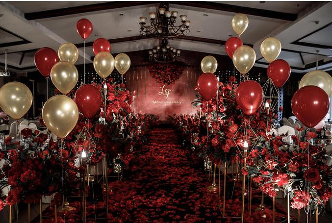红金气球路引