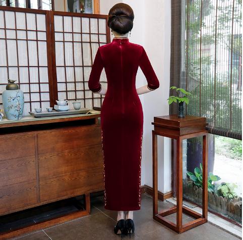 修身中老年旗袍2