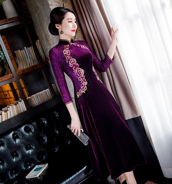 A字旗袍裙1
