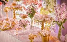 婚礼甜品台布置图片 婚礼甜品台一般多少钱