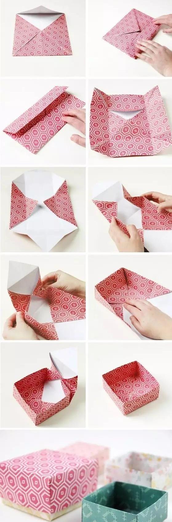 可盖的生日礼物盒折法