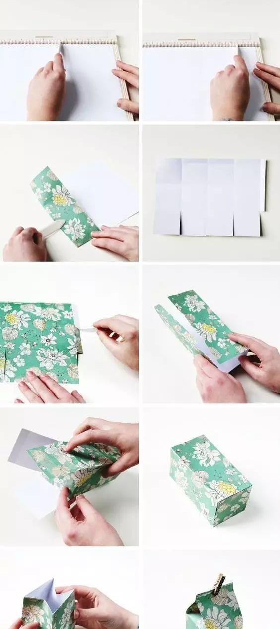 牛奶生日礼物盒折法