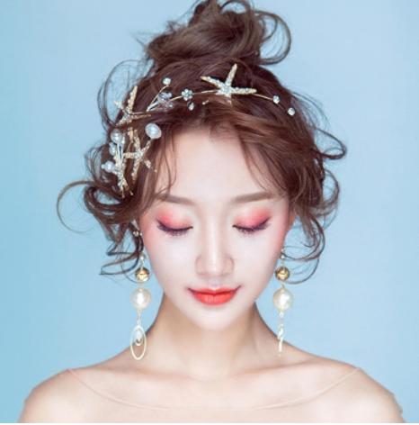 超仙韩式海星新娘发饰