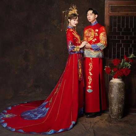 中式龙凤呈祥新郎秀禾服