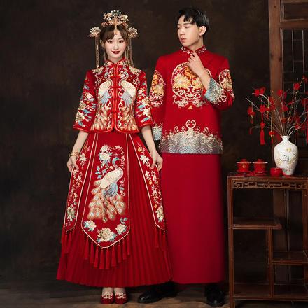 中式古装男士唐装礼服