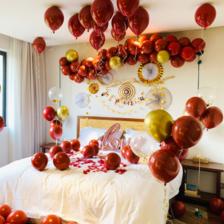 气球婚房造型布置图片大全