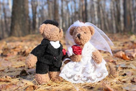 结婚玩偶娃娃