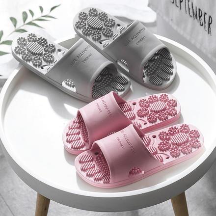 情侶室內防滑按摩居家洗澡軟底靜音拖鞋