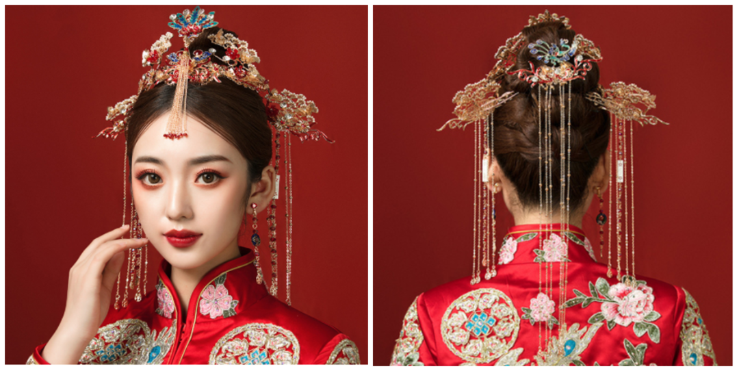 凤冠霞帔中式华丽头饰