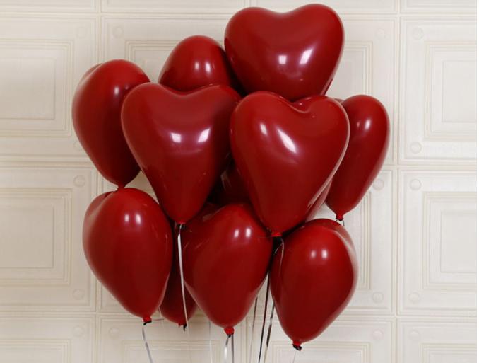 红宝石爱心气球