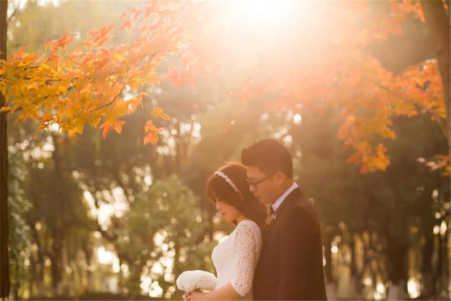 秋天婚纱照
